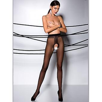 Passion Shiny Open Gusset Tights