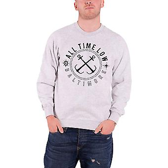 All Time Low Sea Sick Logo Officiel Homme New Grey Sweatshirt