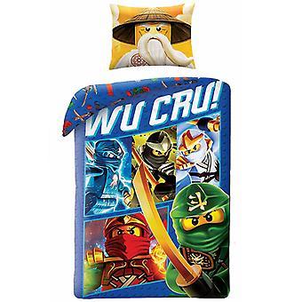 Lego Ninjago Wu Cru Single Duvet Cover Set - Tamaño Europeo