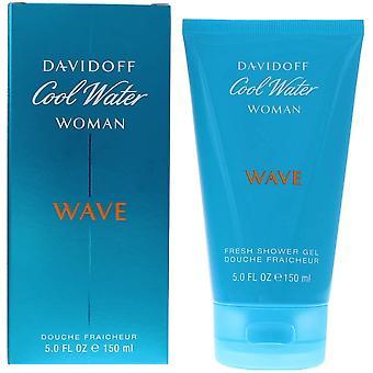 2 x Davidoff Cool Water Woman Wave Fresh Shower Gel 2x150ml For Her