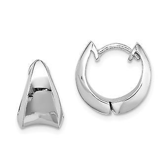 925 Sterling Silver Rhodium verguld scharnierende hoop oorbellen sieraden geschenken voor vrouwen - 6,6 gram
