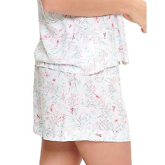 LingaDore 5025SH-17 Frauen's Eularia weiß Floral Print Pyjama Kurz