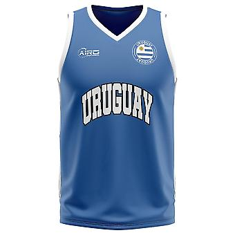 أوروغواي الرئيسية مفهوم كرة السلة قميص
