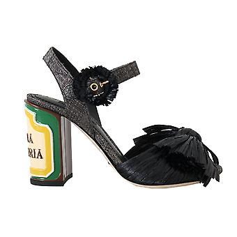 Dolce & Gabbana Black Antica Trattoria Sandals