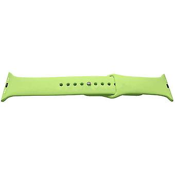 Iwatch strap green 38mm rubber stainless steel buckle