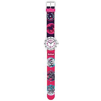 Scout Kids Watch Learning Watch Actie Girls - WILD HORSES Red Girls 280378015