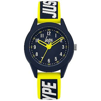 Hype | Yellow/Blue Silicone Strap  | Navy Dial | HYK004YU Watch