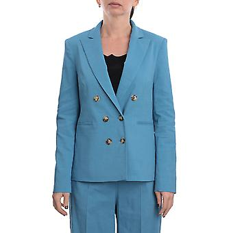 Pinko 1b14du7435f54 Women's Blue Linen Blazer