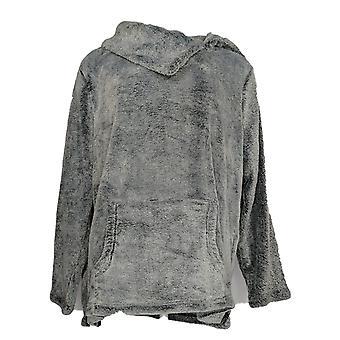 Anybody Women's Sweater Frosted Fleece Pop-Over w/ Pockets Blue A297309