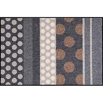 Salonloewe deurmat wasbare Glamour Dots grijs 50 x 75 cm Vuilvangmat