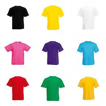 Frukten av vävstol barnens/ungar Unisex Valueweight kort ärm T-Shirt