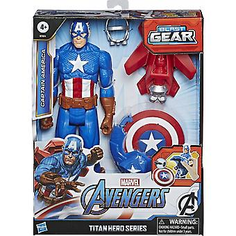 Marvel Avengers Captain America Titan Hero Blast Gear 12 Inch Action Figure Set