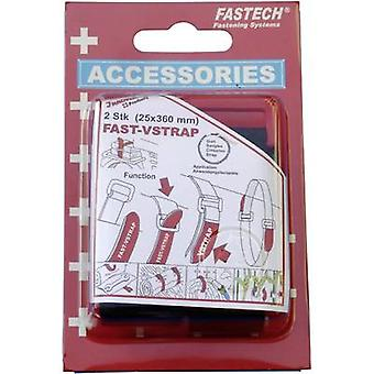 FASTECH® 688-360K Hook-and-loop tape with strap Hook and loop pad (L x W) 360 mm x 25 mm Black 2 pc(s)