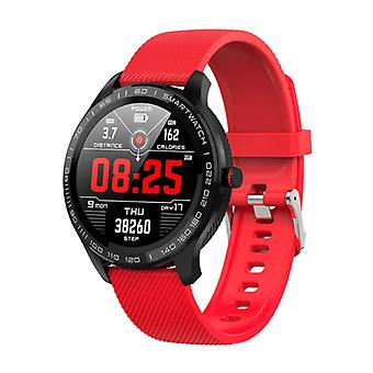 Lokmat Sports Smartwatch Fitness Sport Activity Tracker Smartphone Watch iOS Android IP68 iPhone Samsung Huawei Red Silicone