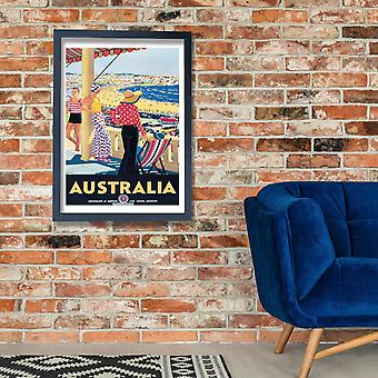 Australien-Percy Trompf Travel Poster Poster Print Giclee