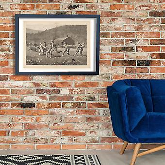 Winslow Homer - Snap the Whip Grey Scale Poster Print Giclee