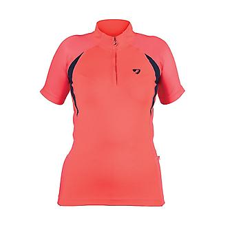 Shires Aubrion Highgate Womens Short Sleeve Baselayer - Coral