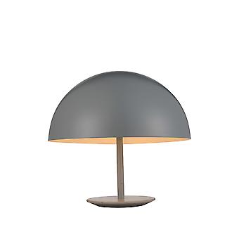 """16"""" X 16"""" X 16"""" Grey Aluminum Table Lamp"""