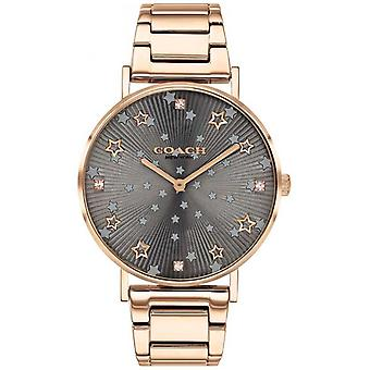 Trainer | Women's Perry | Rose Gold PVD Armband | Grey Star Dial 14503524 Horloge