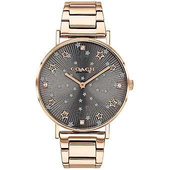 Coach | Women's Perry | Rose Gold PVD Bracelet | Grey Star Dial 14503524 Watch