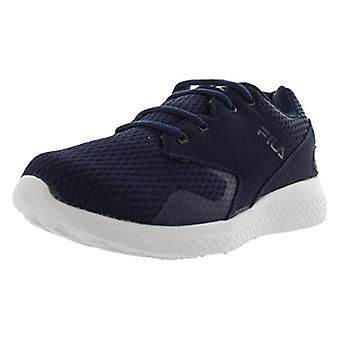 Fila Womens طبقات النسيج منخفضة الدانتيل الأعلى حتى تشغيل حذاء رياضي