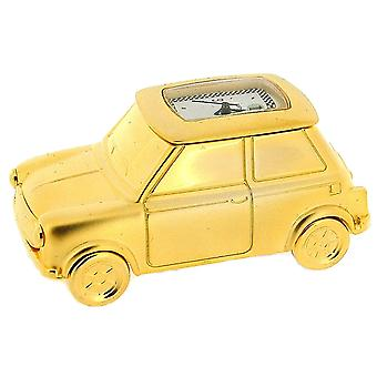 Miniature Goldtone Solid Brass Mini Motor Car Novelty Collectors Clock IMP67