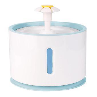 Fontana rotonda dell'acqua per animali domestici - Blu