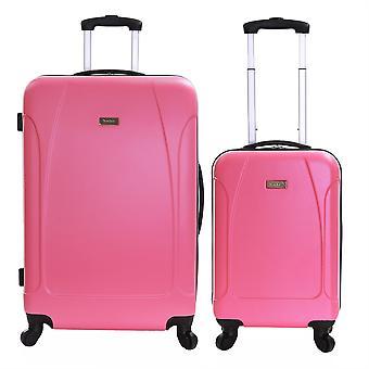 Karabar Evora Set of 2 Hard Shell Suitcases, Punch