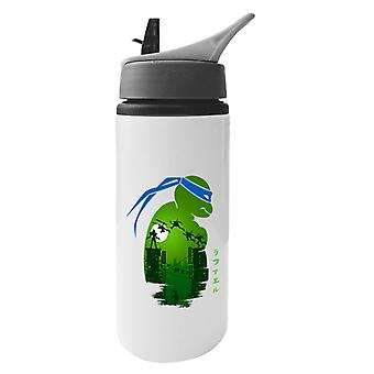 Teenage Mutant Ninja Turtles Shredder Side Profile Aluminium Water Bottle With Straw