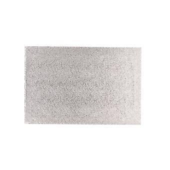 "Culpitt 14"" X 12"" (355 X 304mm) Hardboard Rectangle Turn Edge Cards Silver Fern (3mm Thick) Pack De 5"