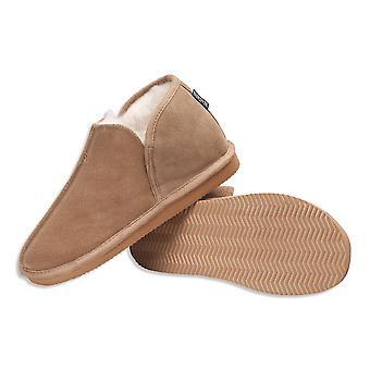 Nordvek Womens Sheepskin Slippers - Soft Wool Blend Booties - Hard Non Slip Sole # 447-100