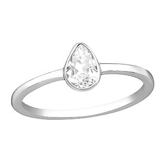 Pear - 925 Sterling Silver Jewelled Rings - W31154x