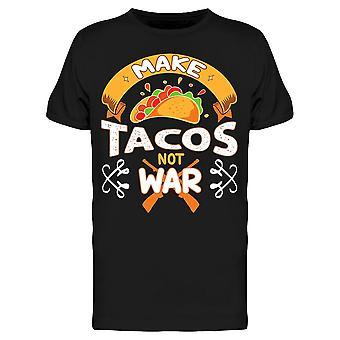 Tacos Not War Drawing Tee Men's -Image by Shutterstock