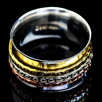 Meditation Spinner Ring Size 6 (925 Sterling Silver)  - Handmade Boho Vintage Jewelry RING4915