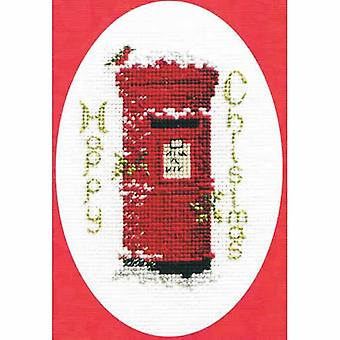 Derwentwater Designs Christmas Cross Stitch Card Kit - Christmas Post