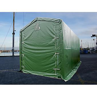 Lagertelt PRO XL 3,5x8x3,3x3,94m, PVC, Grøn