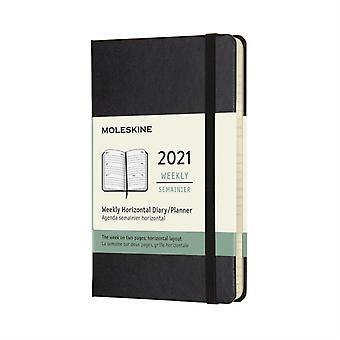 2021 12M Wkly Horizontal Pocket Black HD
