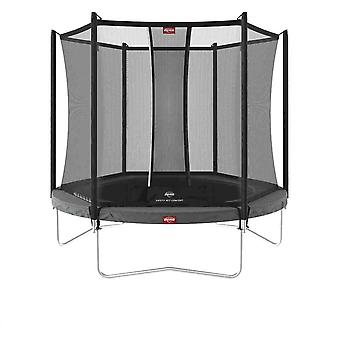berg grey favorit regular 270 9ft trampoline + safety net comfort