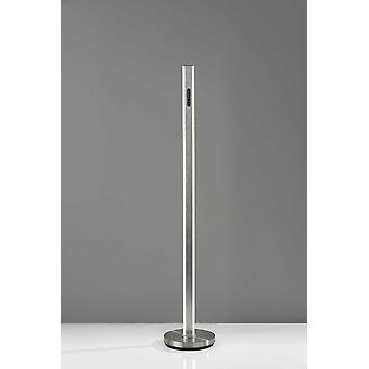 Lámpara de pie Five Color Glow Stick en acero cepillado