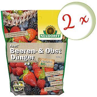 Sparset: 2 x NEWDORFF Azet® Berry e fertilizante de frutas, 750 g
