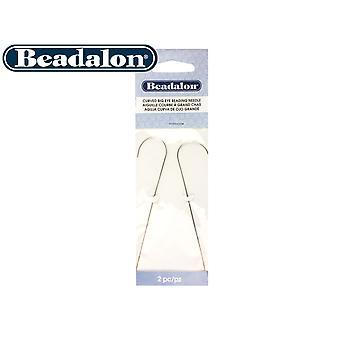 Beadalon Big Eye Curved Beading Needles, Pack of 2