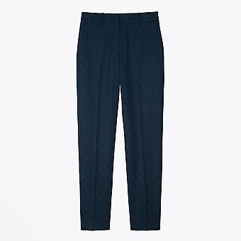 PS Paul Smith  - Jacquard Check Wool-Stretch Trousers - Navy
