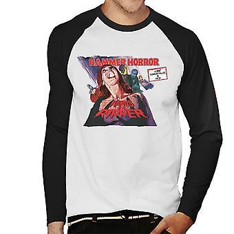 Hammer Horror Filme Hände des Ripper Poster Männer's Baseball langärmelige T-Shirt