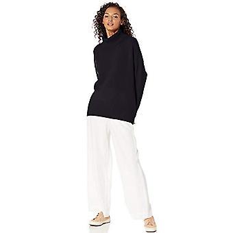 العلامة التجارية - طقوس اليومية المرأة & apos;ق دافئ Boucle السلحفاة سترة, أسود, صغيرة