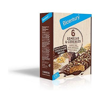 Bar 6 Cereals and Seeds dark chocolate 5 units