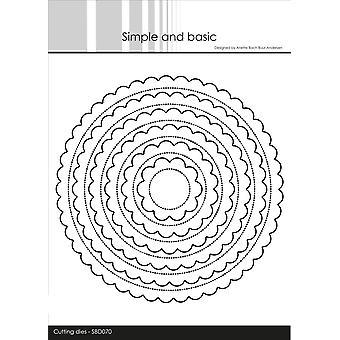 Enkel och grundläggande Scalloped Circles Dies