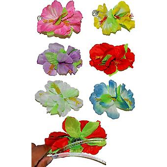 Hibiscus Lg Hairclip Asst Colo