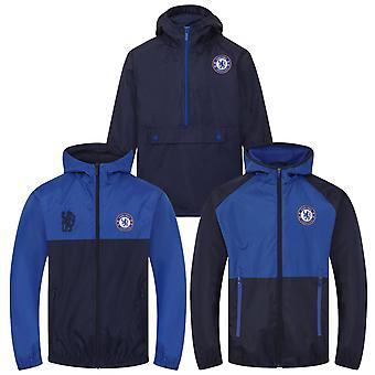 Chelsea FC offizielle Fußball Geschenk Jungen Dusche Jacke Windbreaker