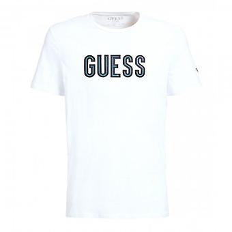 Guess Deal White Logo Crew Neck T-Shirt M0YI9AJ1300