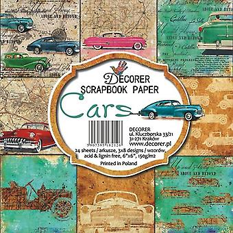 Decorer Cars 6x6 Inch Paper Pack